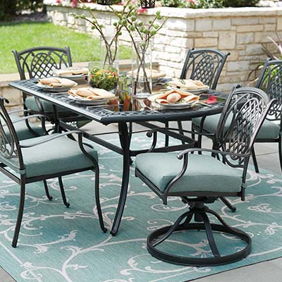 metal outdoor furniture metal patio dining sets YYQKKGK