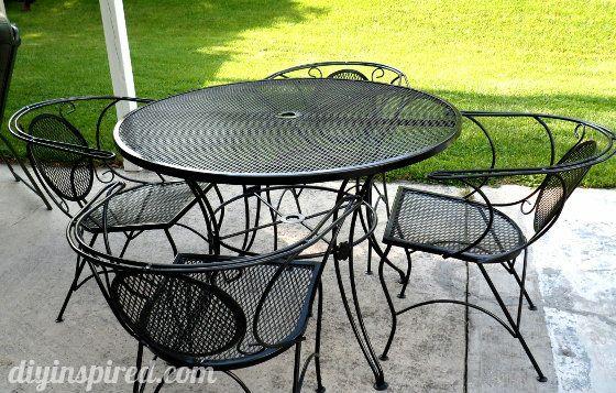 metal outdoor furniture repainting metal patio furniture via blog: 1)use wire brush/sandpaper to  get CVPHBHD