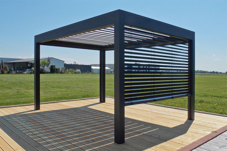 metal pergola self-supporting pergola / metal / with mobile slats - open by xo VVTXLWP