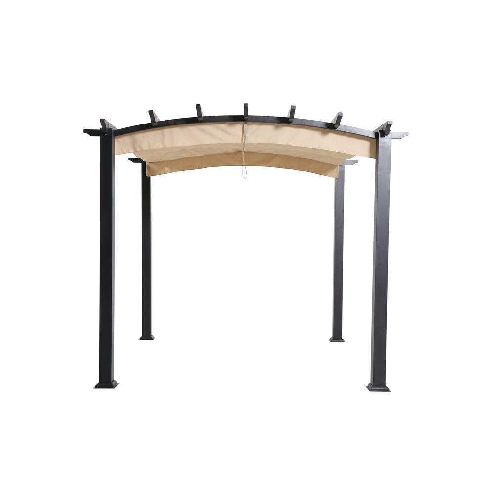 metal pergola steel and aluminum arched pergola with retractable DXTXOIU