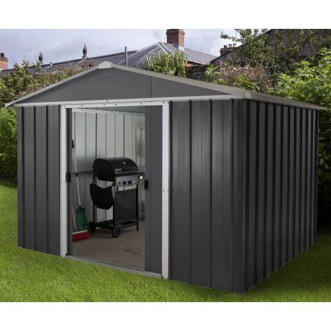 metal sheds 10x8 yardmaster castleton anthracite metal shed