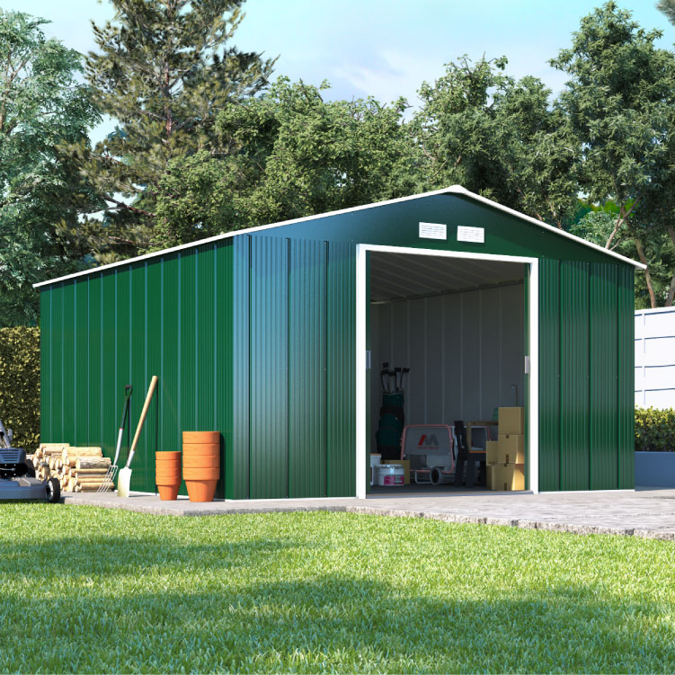 metal sheds billyoh partner apex metal shed - low price double doors apex metal ZCMRBOO