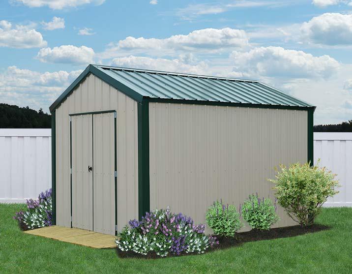 metal sheds liberty-storage-metal-vs-utility-cream-green2-8x12. BHFIMJY
