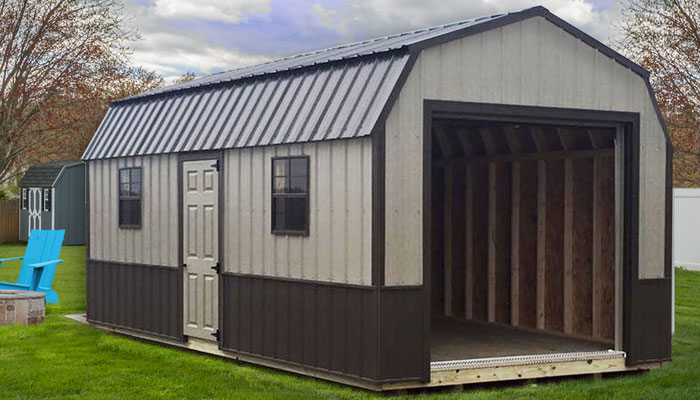 metal sheds metal sided shed barns north dakota