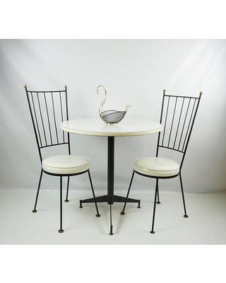 mid century antarenni wrought iron chairs table set /paul mccobb style ZFWAOQI