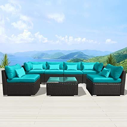 modenzi 7g-u outdoor sectional patio furniture espresso brown