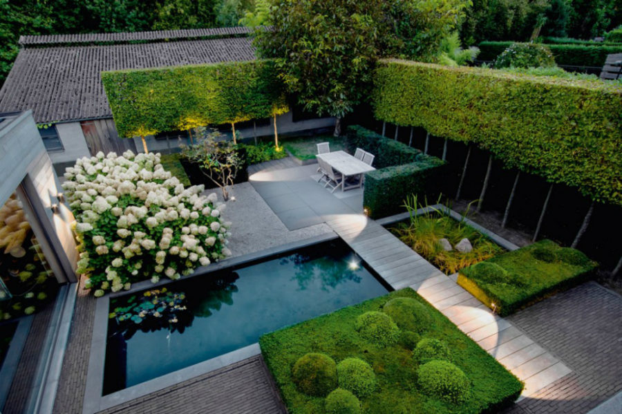 modern garden view in gallery modern outdoor garden HLSMCNC