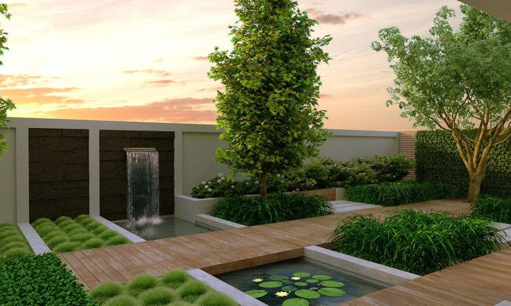modern gardens contemporary garden design: ideas and tips GOLPXBC