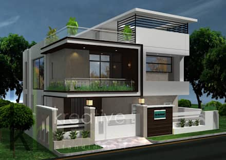 modern house designs a modern home with artistic twist: modern houses by kreative house LEEYPEY