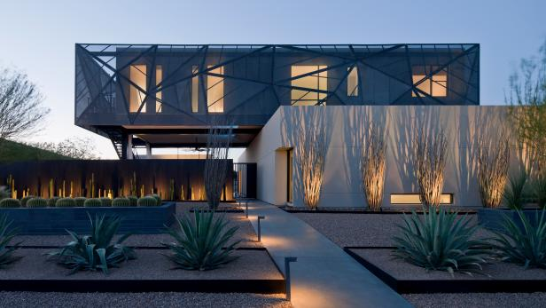 modern landscape design modern home with symmetrical landscape SSNPASF