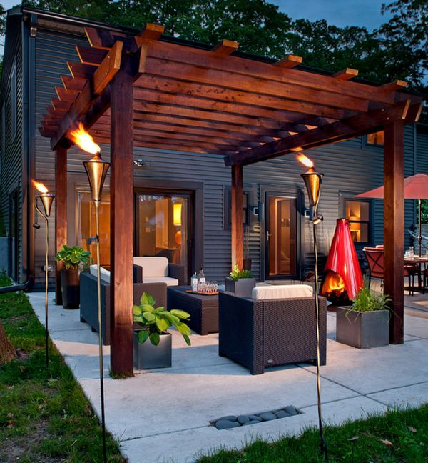 modern pergola view in gallery snazzy pergola has a medieval charm thanks to the NZFBDZA