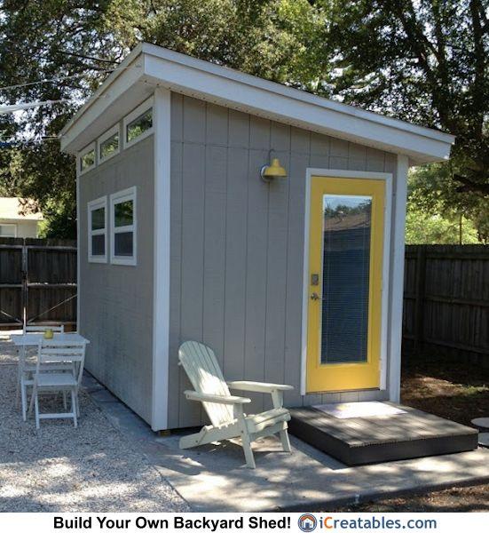 modern sheds 8×12 modern shed plans modern diy fice u0026 studio shed designs backyard VPOSGNI