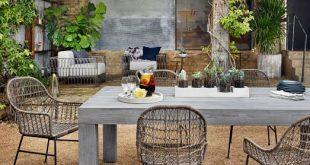 modern teak outdoor dining table OOTFUCO