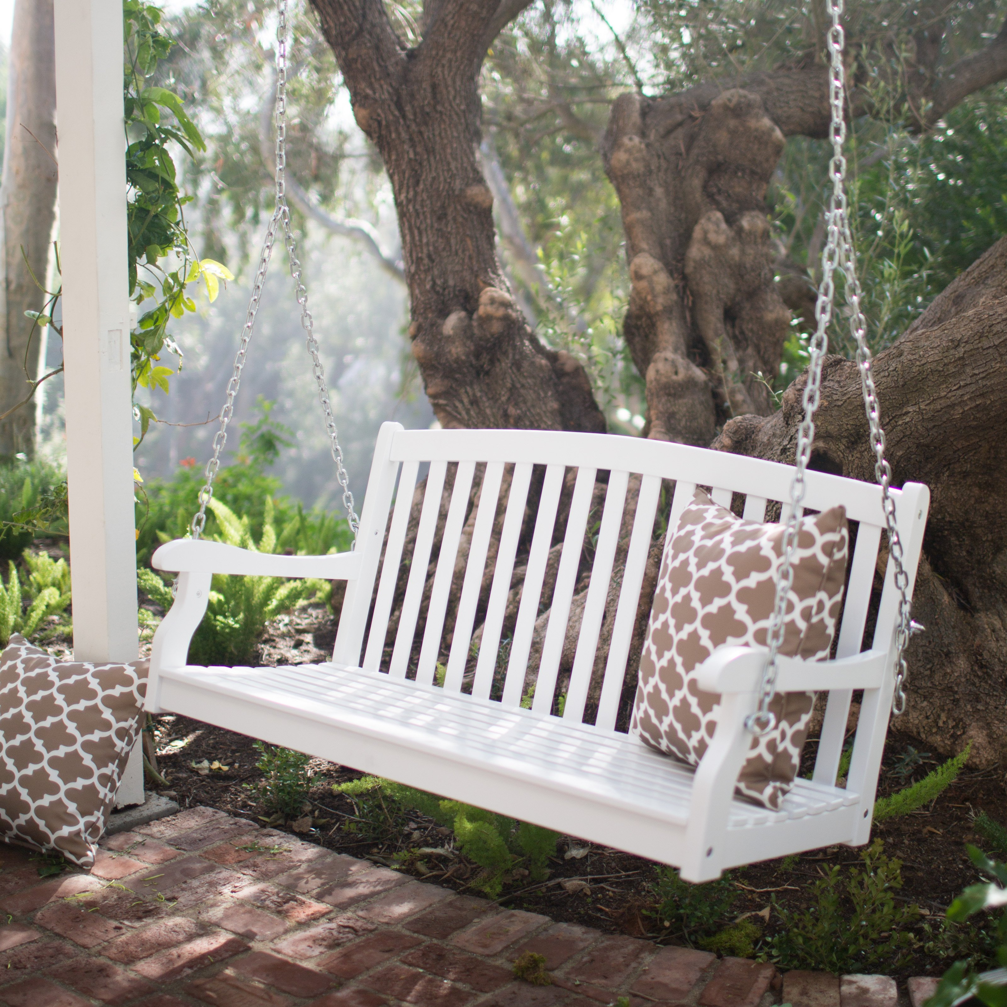 modular porch swings coral coast pleasant bay white curved back porch swing QYETNZC