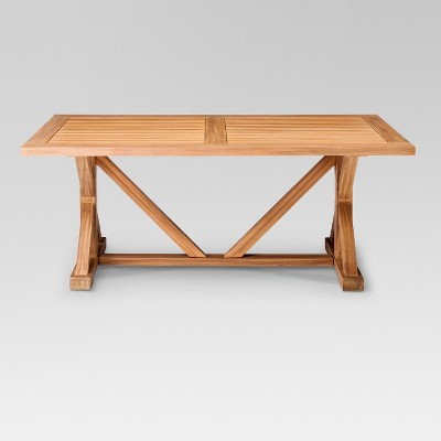 morie farmhouse wood outdoor dining table - threshold™ BWANUGQ