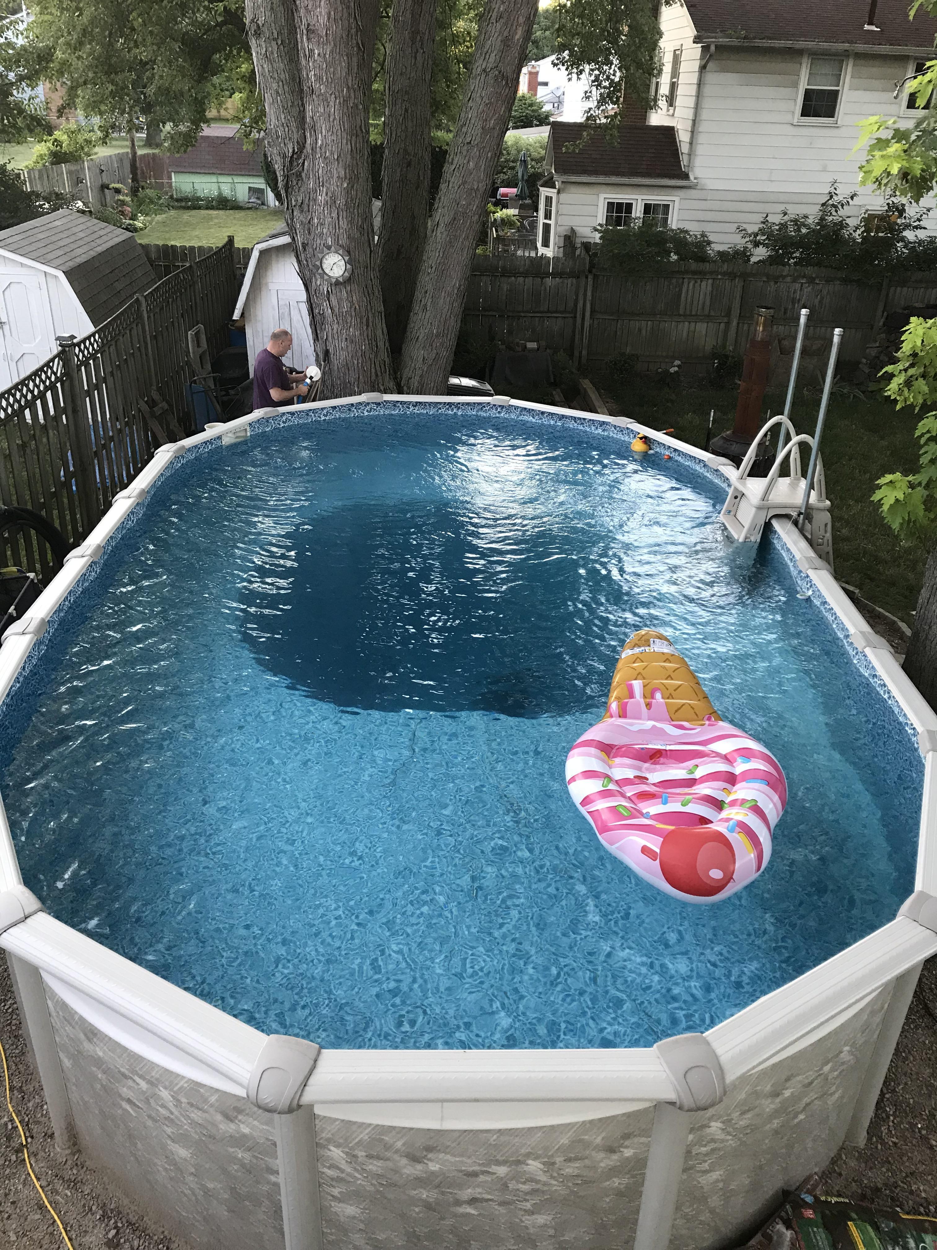 my above ground pool has a 13 foot deep pit. AUKFADV