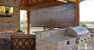 oasis patio shades driven by lutron YFEPTWB