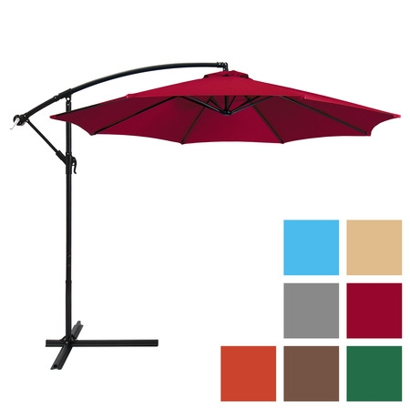 offset patio umbrella best choice products 10ft offset hanging outdoor market patio umbrella - MQAJXCQ