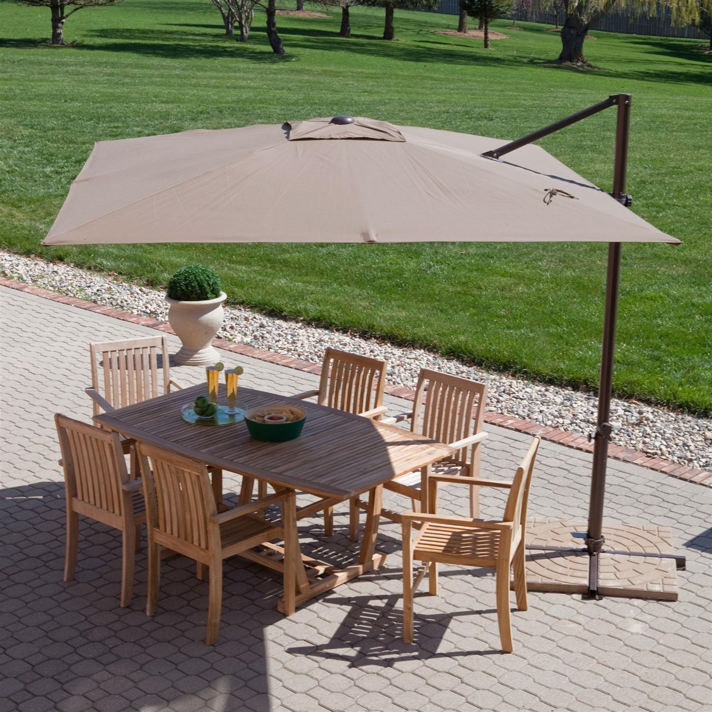 offset patio umbrella modern 8.5-ft offset cantilever square patio umbrella with mocha shade NOATCMJ