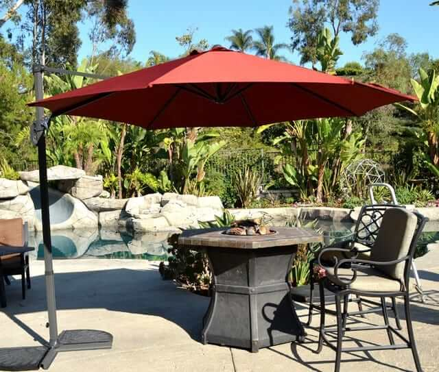 offset patio umbrella - rust-red 10u2032 cantilever FAFRHDP