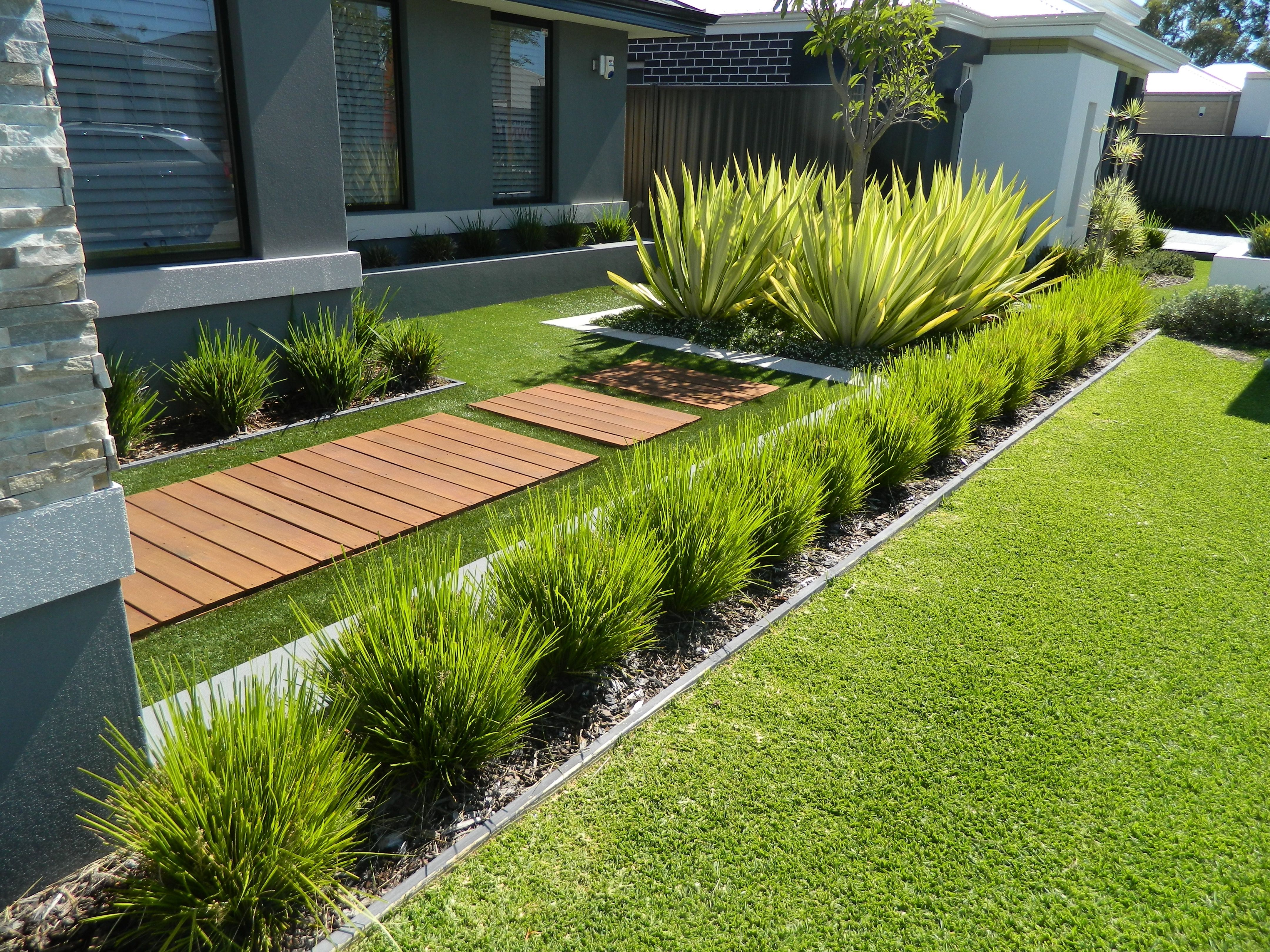one of our front yard design modern contemporary