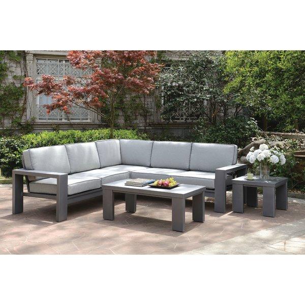orren ellis sherrell contemporary outdoor sectional sofa | wayfair BNAFKFA