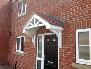 our door canopies are suitable for commercial businesses as well as DKIBABF