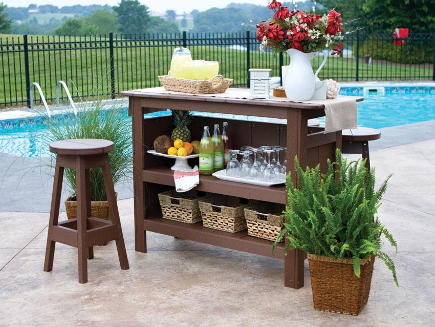 outdoor bar furniture amish outdoor bars | poly bar MAHLCGG