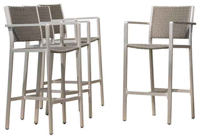 outdoor bar stools capral outdoor gray wicker bar