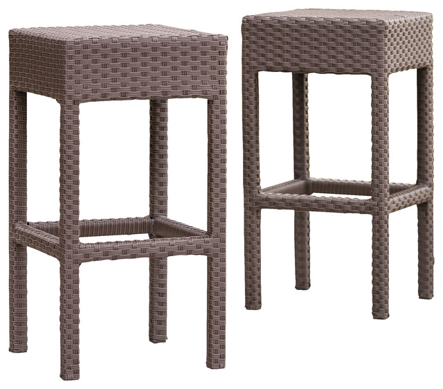 outdoor bar stools rudolfo 2-piece outdoor backless bar