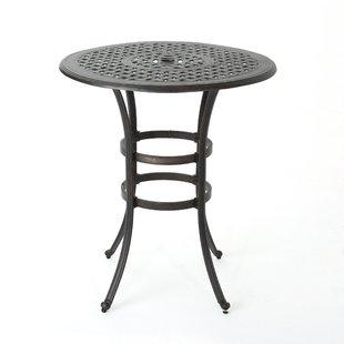 outdoor bar table corle outdoor cast aluminum bar table KAVKRWL