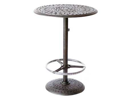 outdoor bar table darlee outdoor living series 60 cast aluminum 30 round bar table XWFTAIF