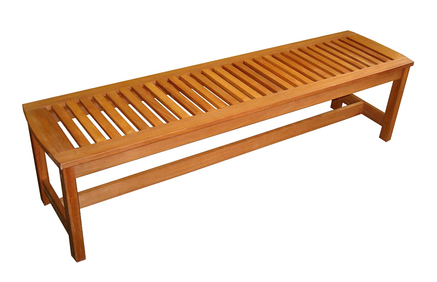 outdoor benches amazon.com : arboria outdoor bench backless large 5 foot length premium FHBOFJQ