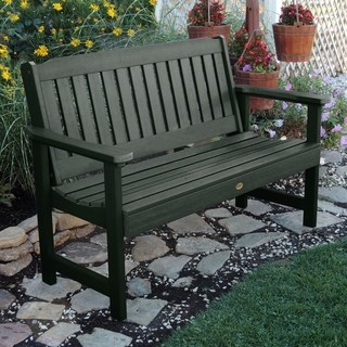 outdoor benches oliver u0026 james jacques 5-foot eco-friendly synthetic wood garden bench DJHTHHV