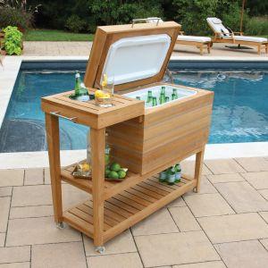 outdoor buffet table cucina cooler stand QDPLVLN