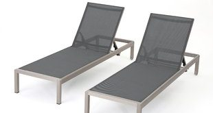 outdoor chaise lounge lacon mesh chaise lounge set (set of 2) XNLOWVM