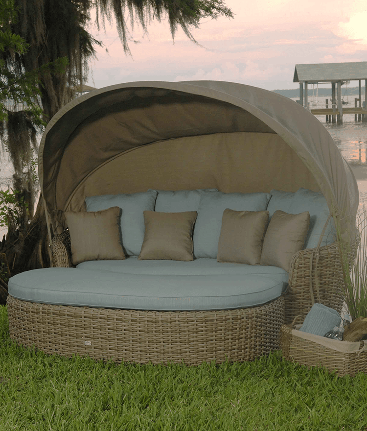 outdoor daybed with canopy dreux outdoor daybed with ottoman and canopy CGVINJQ