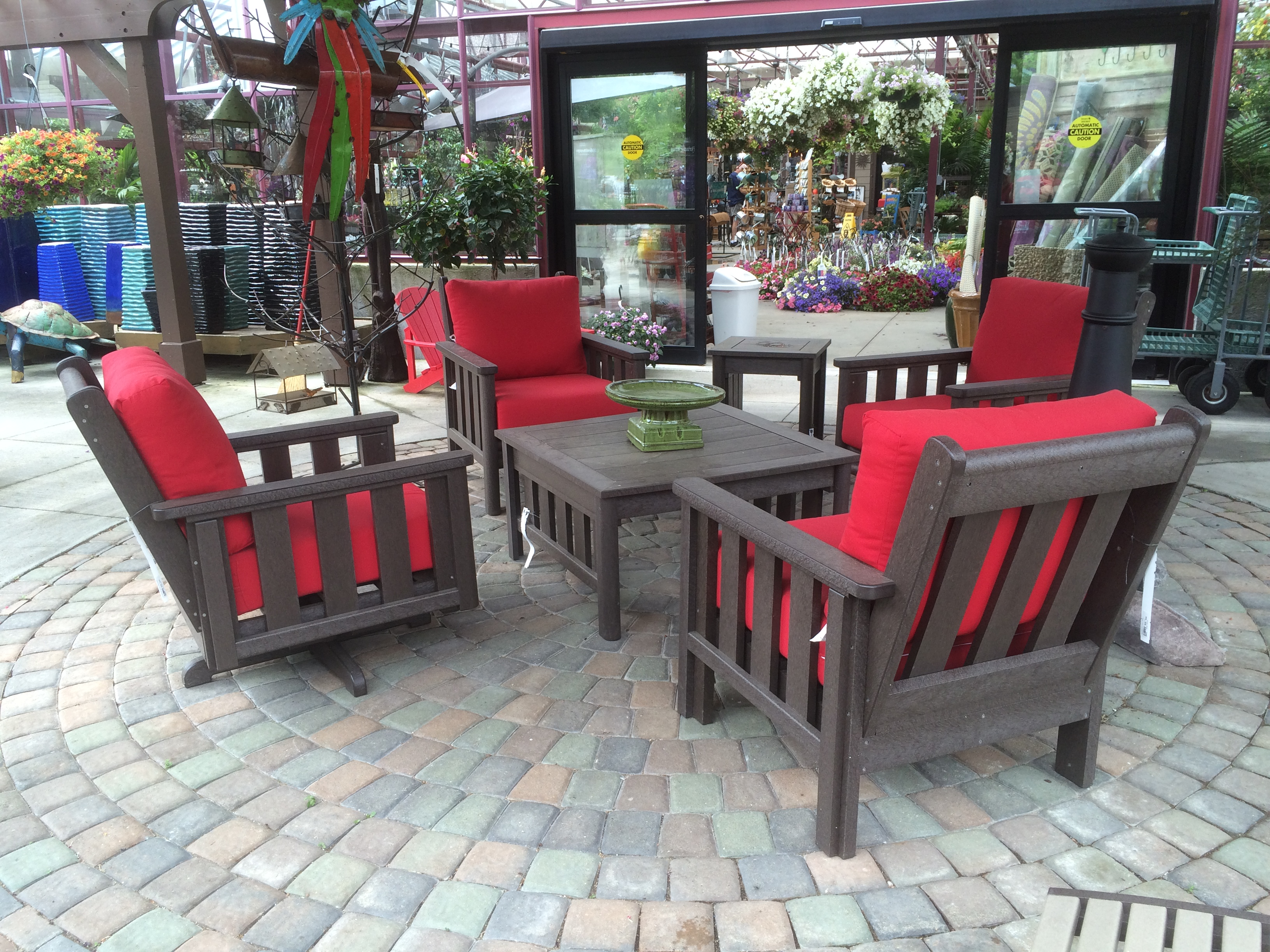 outdoor decor patio set PWYUVZF