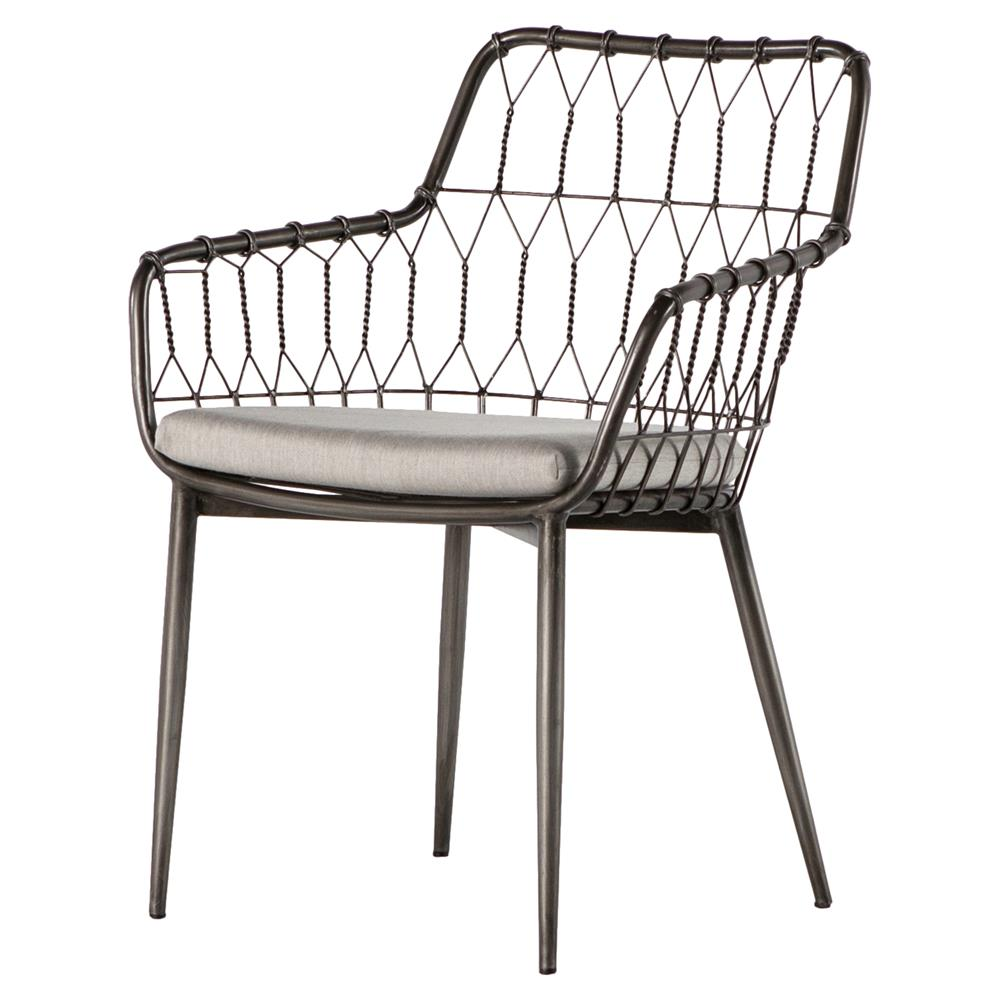 outdoor dining chairs albin hairpin iron rattan outdoor dining chair | kathy kuo home JDNMKDH