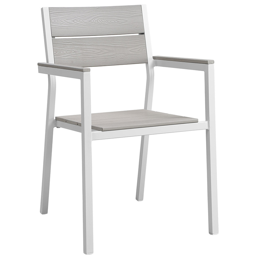 outdoor dining chairs murano modern white outdoor dining chair | eurway RCXJCSW