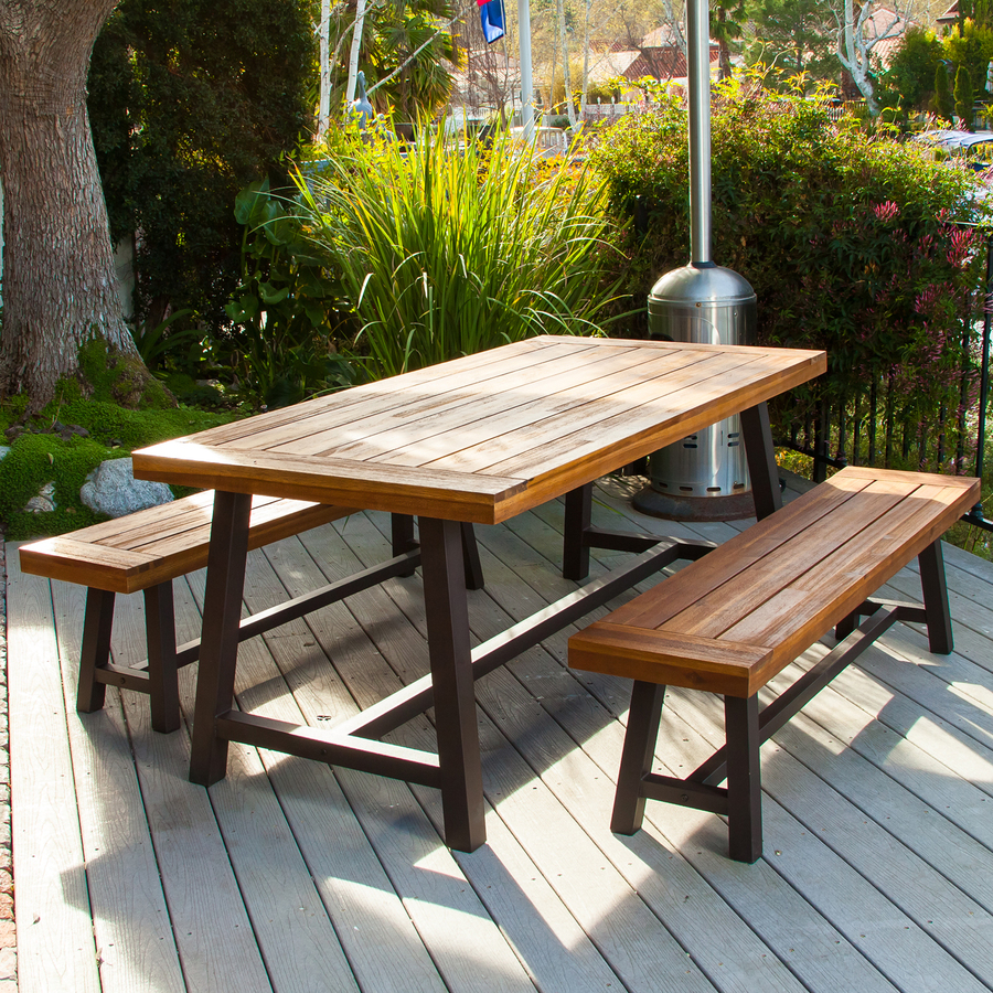 outdoor dining sets display product reviews for carlisle 3-piece brown metal frame patio dining VLDJOGJ