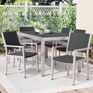 outdoor dining sets durbin 7 piece aluminum dining set TJPTOTI