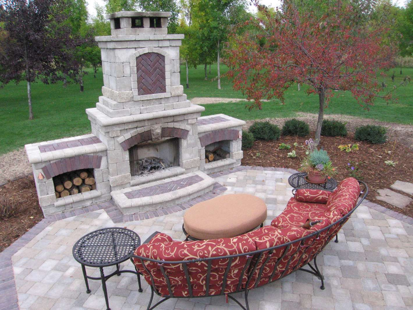outdoor fireplace designs outdoor fireplace design in kaukauna, wi JOVUTKE