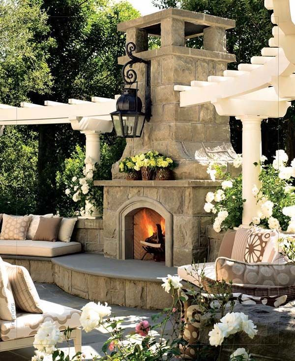 outdoor fireplace ideas 53 most amazing outdoor fireplace designs ever RZKMUXY