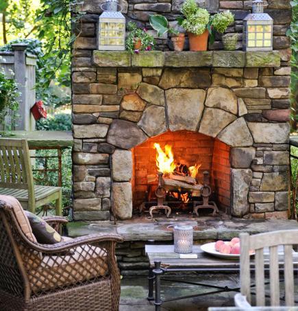 outdoor fireplace ideas hearth works UEEGRKD