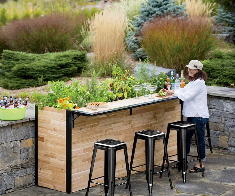 outdoor garden bar and patio planter serves up the fresh TQPAXJE