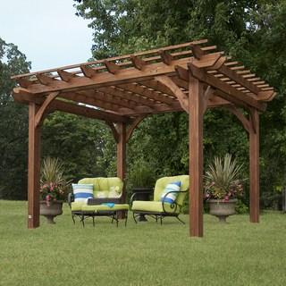 outdoor gazebo backyard discovery cedar pergola 10 x 12 VGOZUSG
