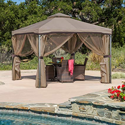 outdoor gazebo great deal furniture 294933 sonoma | outdoor fabric/steel gazebo canopy | TJHEINO