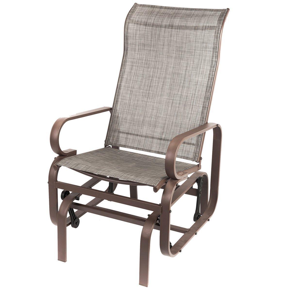 outdoor gliders naturefun outdoor patio rocker chair, balcony glider rocking lounge chair,  all GIYNWDR