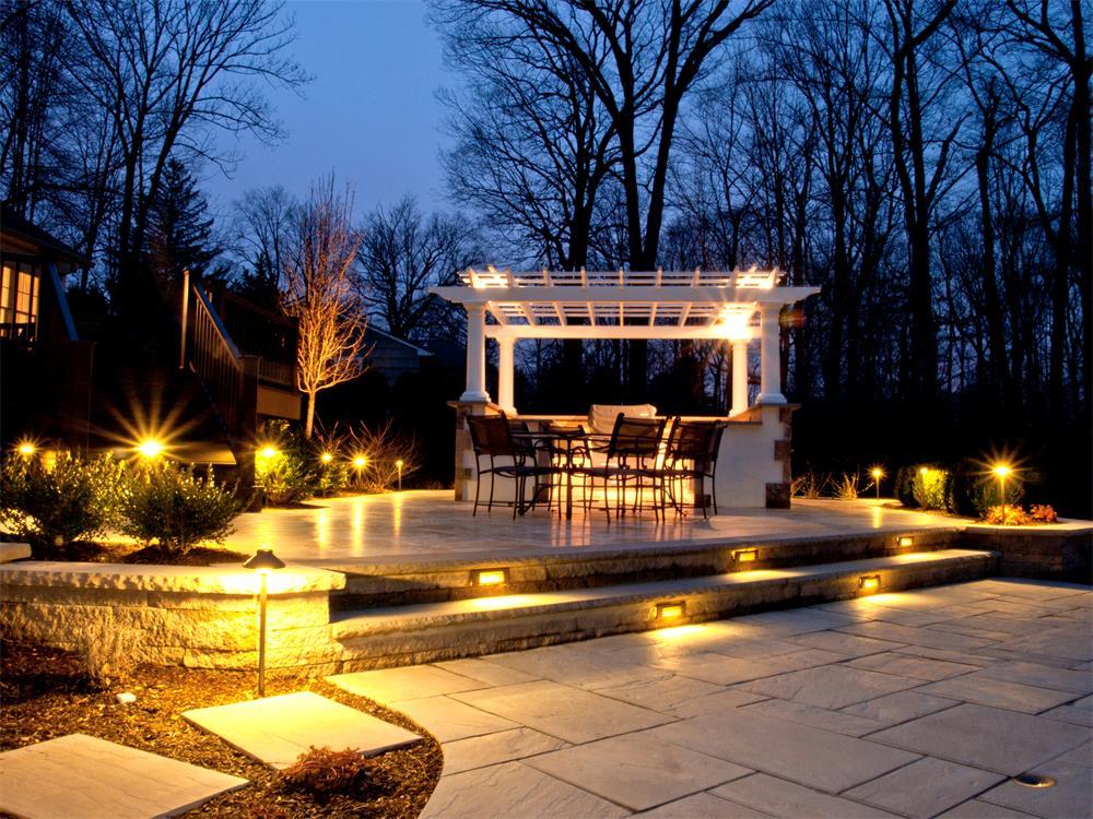 outdoor landscape lighting we create a stunning landscape